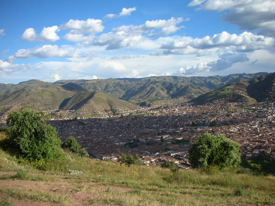 Looking at the view over the city: one of the many things to do in Cusco